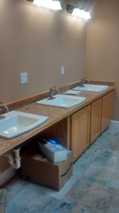 New bathroom sinks