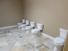 New toilets